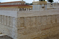 The Western Wall...circa 66 BCE (jglsongs) Tags: history museum israel model ancient view jerusalem   newcity yerushalayim ancienttemple  givatram israelmuseum shrineofthebook     66bc 66bce