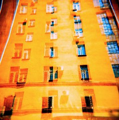 A Sunlit House (max_trudo) Tags: city windows favorite art film beautiful yellow wall interesting fantastic cityscape good moscow award super lubitel stunning excellent thumbnail incredible soe anawesomeshot theperfectphotographer brightcolores