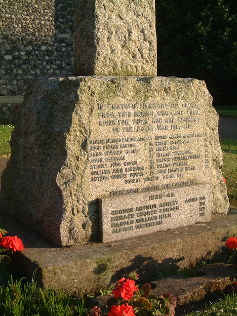 Strumpshaw War Memorial 1