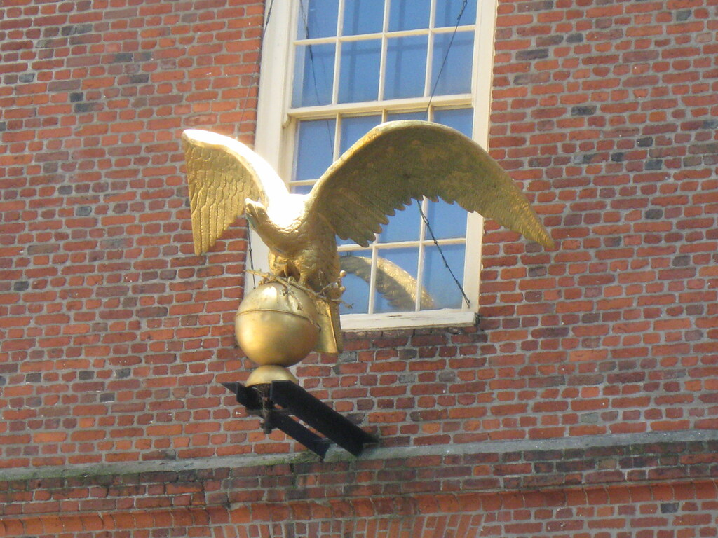 Old State House's gold eagle