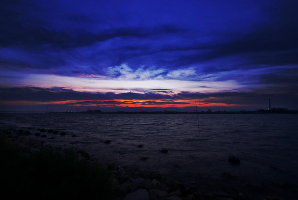 淀川夕景。
