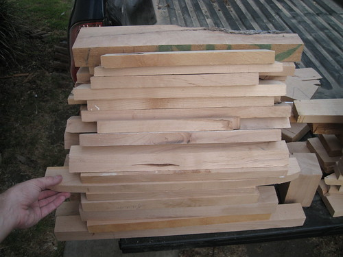 small straight pieces of alder