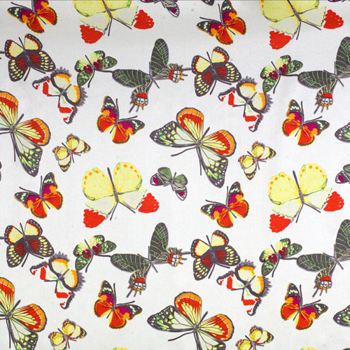 white butterfly silk