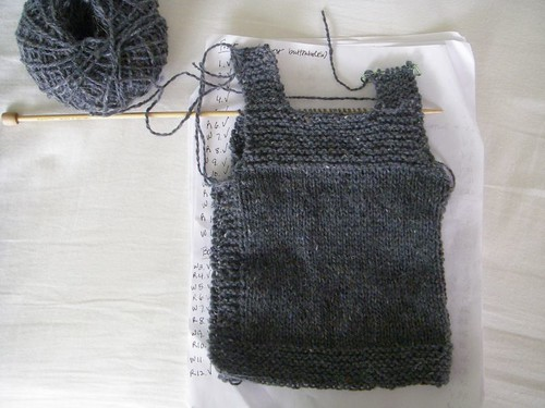 baby knitting in progress