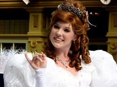 Giselle from Enchanted (Scott Smith (SRisonS)) Tags: world christmas xmas beautiful smile movie pretty princess florida disney parade giselle fl wdw walt taping magickingdom enchanted platinumheartaward disneyphotochallenge disneyphotochallengewinner