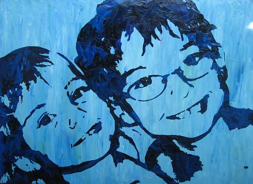 Stencil Portrait - Beth's kids