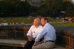 Sommerinterview Guido Westerwelle in Dresden (cultcha.org) Tags: tv zdf guidowesterwelle peterhahne