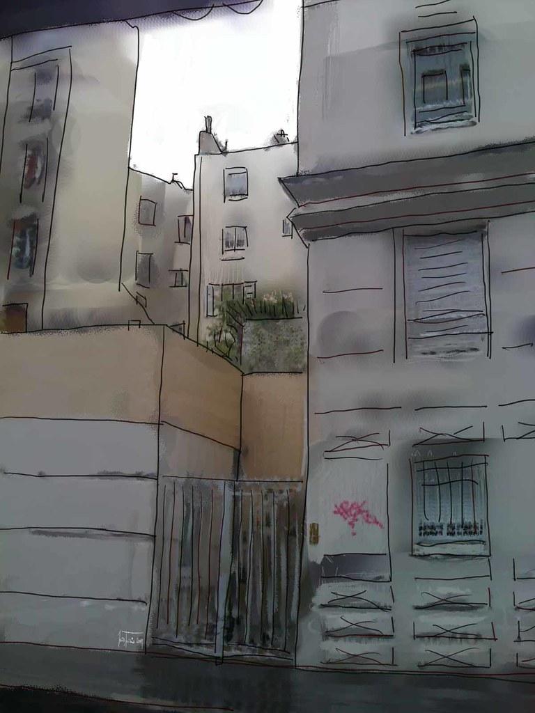 rue de charolais, rainy day !