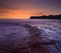 Jurassic (antonyspencer) Tags: uk winter sunset seascape landscape coast unesco ledge dorset jurassic kimmeridge