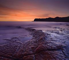 Jurassic (antonyspencer) Tags: uk winter sunset seascape landscape coast unesco ledge dorset jurassic kimmeridge