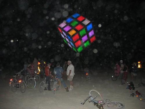 cube at night