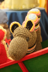 Knitted camel (flyhoof) Tags: show county uk england animal animals toy fly women knitting farm crafts united traditional country farming creative knit craft kingdom ground tent womens september institute textile camel novelty cumbria lane knitted textiles hoof wi 2009 kendal westmorland showground cumbrian crooklands agrigultural skeffto flyhoof briwnbritain
