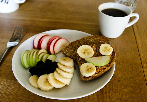 PB, Banana and Apples on Toast