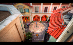 Plaza de Miniature (isayx3) Tags: shopping miniature losangeles nikon thegrove shift 365 24mm tilt f28 d3 nikkon tiltshift isayx3