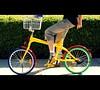 Google bike (Petra Cross) Tags: bicycle yellow toy google colorful funky googleplex gbike googlebike petracross