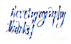 thank you (Matheus Barbosa) Tags: thanks mais calligraphy caligrafia tipocracia tiralinea ilovetypography colapen tipoforme