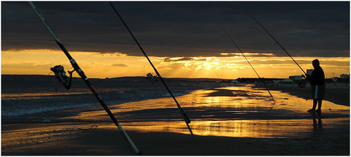 Fisherman at the seaside