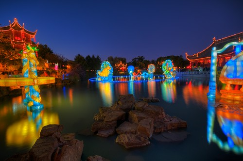 The Magic of Lanterns at the Chinese Garden (HDR)
