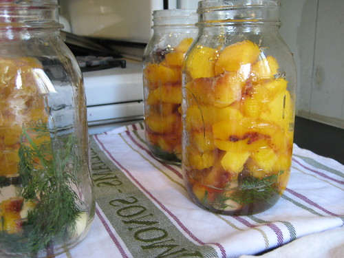 peaches in jars