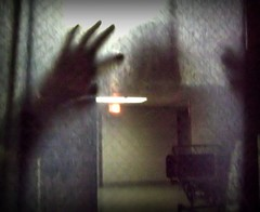 Haunted Hospital (deepintheforestcat) Tags: halloween fear spooky apparition hauntedhospital frightening ghostinanursesstationwindow alostspiritneartheorinahospital ghostlyhospitalbed eerienightsky