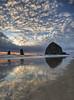 destination (richietown) Tags: ocean sunset reflection topf25 topv111 oregon canon topv333 bravo cannonbeach hdr 30d richietown