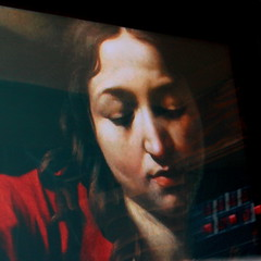 video (monyart) Tags: light red woman girl beautiful amsterdam video paint sad lips girlpower monyart