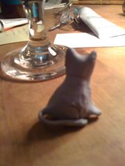 Blu-tac cat by maddy