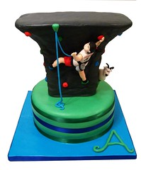 Climbing Wall (Berliosca Cake Boutique) Tags: birthday wedding party cakes cake vancouver chocolate indoor special climbing novelty vanilla climber custom occasion mountaingoat specialty sweetsixteen climbingwall berliosca