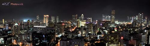 panorama night singapore