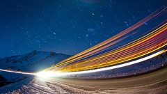 Light Trails On Loveland Pass (Mike Berenson - Colorado Captures) Tags: morning winter sky snow cold nature night dark stars shower photography lights nikon colorado lighttrails meteor allrightsreserved meteors leonids d300 meteorshower 2009mikeberenson coloradocaptures