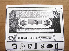 mail art cassette inlay