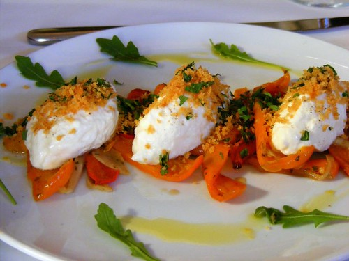 burrata with peppers