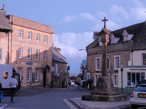 The town center, Stow on the wold, Cotswold, England.