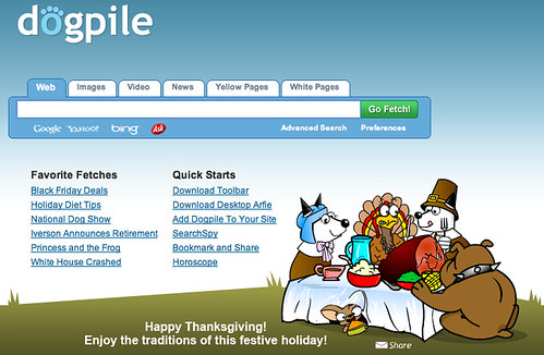 Dogpile Thanksgiving Logo
