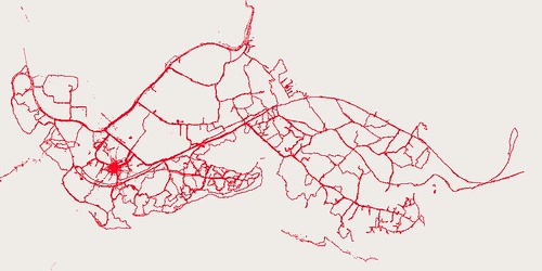 Three weeks of GPS tracks in Kibera