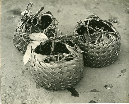 Woven baskets at market in Zamboanga