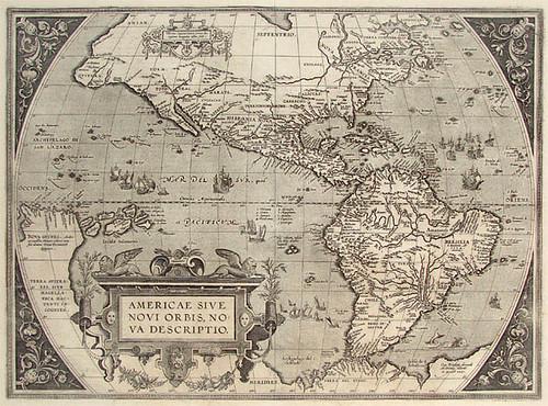 Mapa de la América conocida en el siglo XVIII.