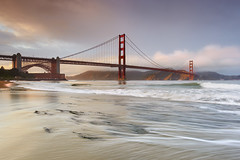 Light on the Marin Headlands - San Francisco, California (PatrickSmithPhotography) Tags: ocean sanfrancisco travel bridge sunset sea vacation sky seascape storm seaweed beach rock sunrise landscape golden sand gate marin wave goldengatebridge goldengate headlands fortpoint lowtide sausalito visipix