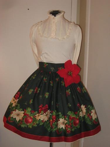 Christmas skirt 2009 001
