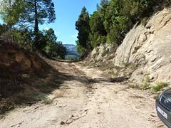Parking et départ de la piste de Punta Radichella