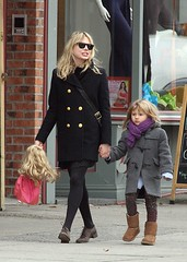 Michelle Williams, Matilda Rose Ledger (My Babies Love's) Tags: usa newyork black sunglasses brooklyn scarf grey doll candid gray daughter fulllength mother tights skirt holdinghands exclusive uggboots uggs peacoat brownshoes michellewilliams leggins woolcoat matildaroseledger