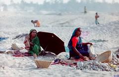 Nativity (bandashing) Tags: poverty england baby film umbrella 35mm manchester construction break stones poor oldschool negative mum labour gran sylhet bangladesh tiffin jaflong bandashing