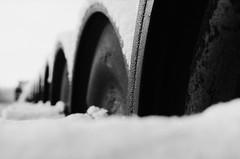 Rings of steel (melquiades1898) Tags: schnee bw snow film analog 35mm germany blackwhite hessen eisenbahn railway sw analogue ilford fp4 ricoh darmstadt 125asa schwarzweis güterbahnhof kleinbild ricohkr10m