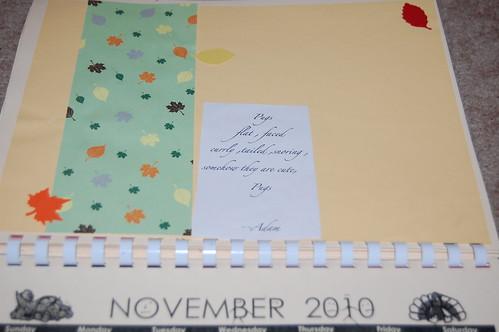 Adam's calendar gift - November