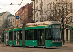 Helsinki HKL 5-car low-floor Variotram No. 239 at the Opera House on 1 March 2014 (A Scotson) Tags: finland helsinki opera tram streetcar tramcar hkl oopera 5car localtransport variotram lowtram
