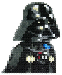 Darth Vader (pixgraff) Tags: star george force lucas clones bead wars fantasma sith hama perler ataque amenaza fuerza vengaza