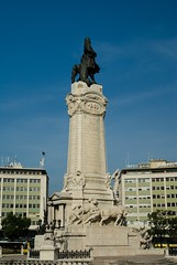 Statue of the Marques de Pombal (master of the atom) Tags: street city travel portugal statue lisbon rotary marquesdepombal
