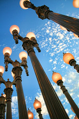"""Urban Light"" at LACMA. Photo by andy castro."