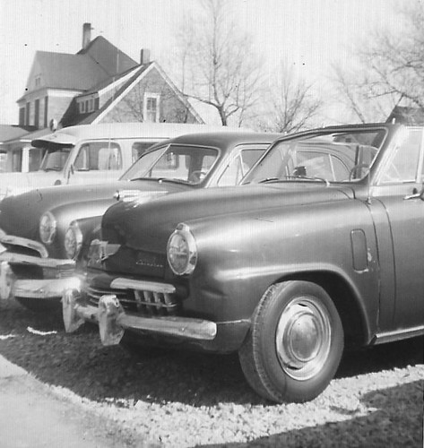 USED CAR LOT IN TRENTON MISSOURI 1958, FRANK'S USED CARS, 9TH ST