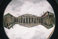 British Museum - Fisheye 2 Double Exposure (25ThC) Tags: london film museum 35mm lomo lomography kodak doubleexposure camden british fisheye2 kodakultramax400 25thc